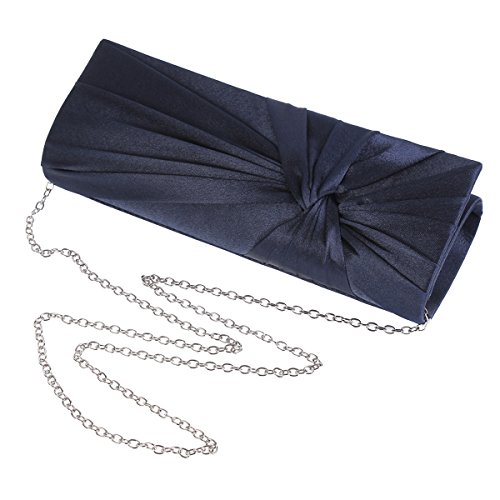 Clutch Evening Satin Pleats Interlacing Damara Grey Bag Graceful Womens ZwCXqa