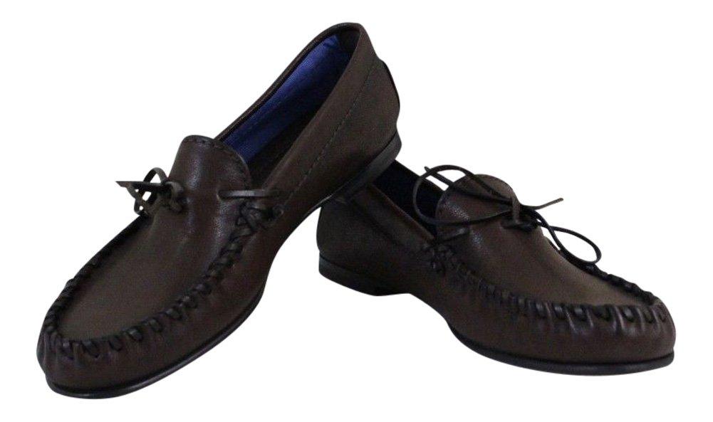 トムフォードメンズブラウンレザーモカシン靴サイズ10.5 T   B01JF1M9ZS