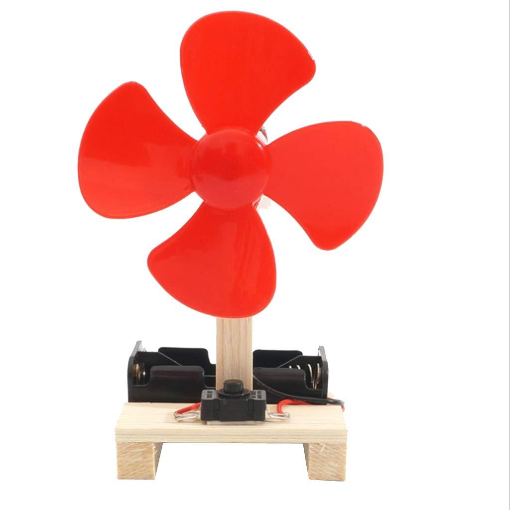 Fenteer Kids Physics Teaching Toy Wind Generator Fan Model DC Generator Windmill, Powered On Rotating Motoring Shaft