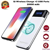 SP0351 Wireless Charger Power Bank,KUPPET 4000mAh External Battery Charging Pack Portable Charger Battery Pack Portable Charger for iPhone X,iPhone 8,Samsung Galaxy S8 Note 8