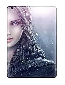 MTK5866QFAb Woman In Snow Awesome High Quality Ipad Air Cases Skin