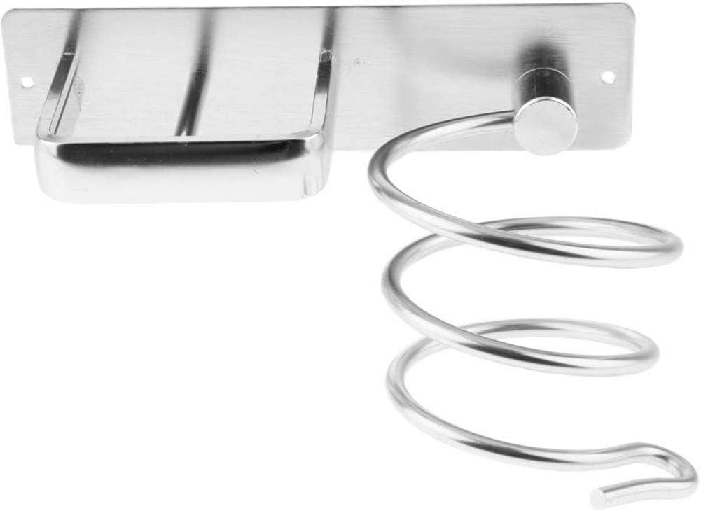 Soporte para alisador de secador de Pelo montado en la Pared Estante para secador de Pelo sin Perforaciones Estante para Colgar en Espiral Resistente al Calor para ba/ño en casa