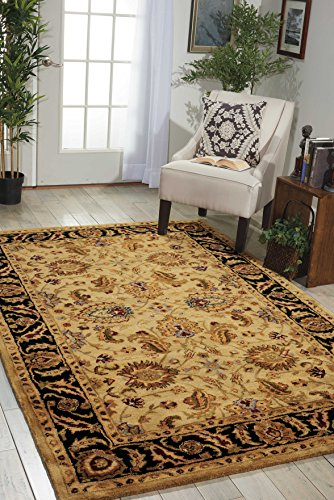 Nourison Jaipur (JA22) Light Gold Rectangle Area Rug, 3-Feet 9-Inches by 5-Feet 9-Inches (3'9
