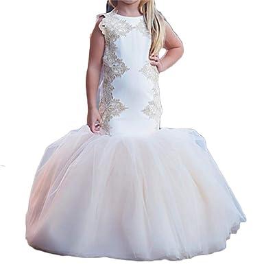 ff28facf6527 Amazon.com: Dydsz Flower Girl Dresses for Wedding Babies Toddlers Mermaid  Long Dress D34: Clothing