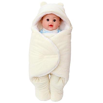 Gleecare Saco de Dormir de bebé bebé de recién Nacido bebés otoño Invierno Sorpresa contra Abrazo