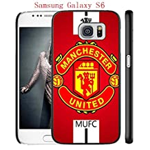 Samsung Galaxy S6 Case, Manchester United FC Soccer Team Logo 44 Drop Protection Never Fade Anti Slip Scratchproof Black Hard Plastic Case