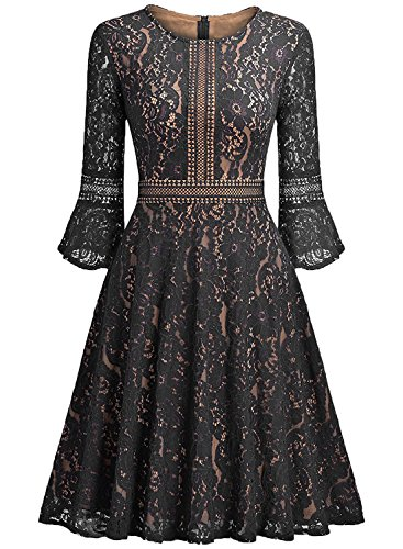 lace a line dress with sleeves - 9