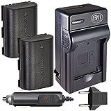 BM Premium 2-Pack of 2 LP-E6, LP-E6N Batteries and Charger for Canon C700, XC10, XC15, EOS 60D, EOS 70D, EOS 80D, EOS 5D II, EOS 5D III, EOS 5D IV, EOS 5Ds, EOS 6D, EOS 7D,EOS 7D Mark II SLR Camera