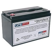 Werker WKDC12-100P 12V 100Ah Deep Cycle Battery - Insert Terminals