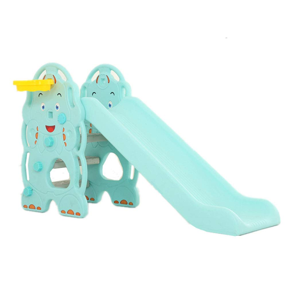 Toddler Slide and Climber Indoor Outdoor Climbers Slides for Toddlers Folds for Easy Storage Infant Climbers Kids Playground 130x36x80cm Blue by Thole (Image #1)