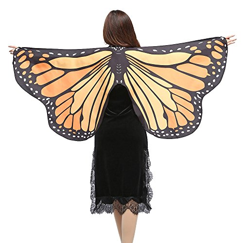 YOcheerful Women Butterfly Wings Shawl Scarves Ladies Nymph Pixie Poncho Costume Accessory -