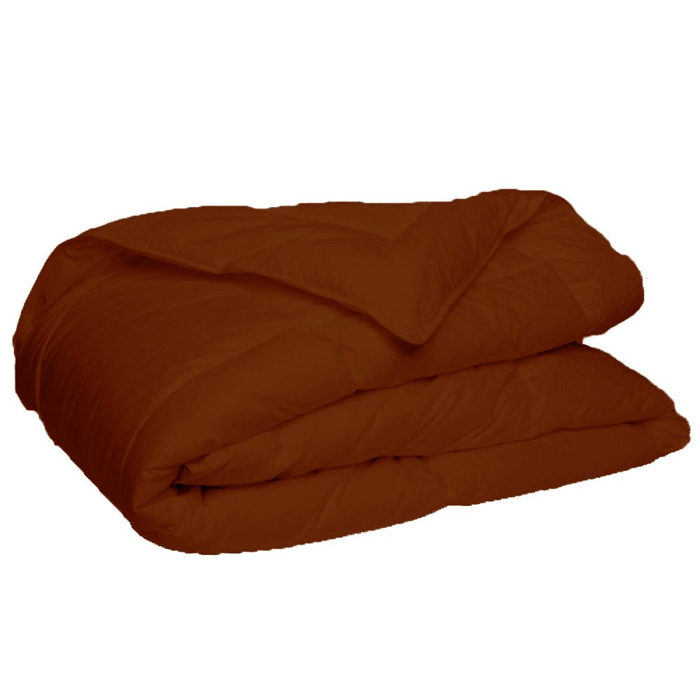 Elegant and Luxury Quality Comforter by New York Mercado 300 GSM All seasons Warm Fluffy Ultra-Soft and Smooth, Made of 100% Long staple Egyptian cotton Italian finish (Queen, Chocolate)