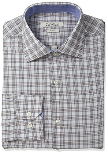 Perry Ellis Slim Fit Wrinkle Free Glen Plaid