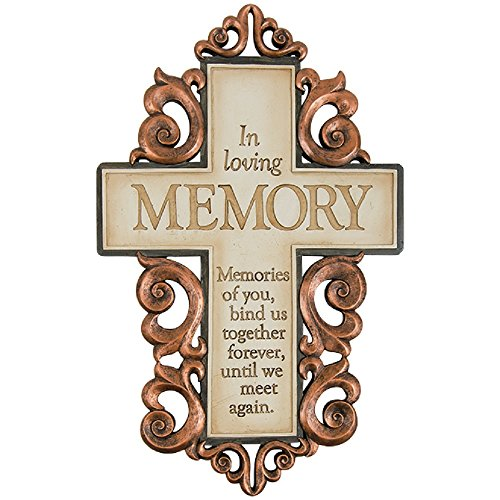 Carson In Loving Memory Memorial Hanging Wall Cross Religious Home Decoration 14 ()
