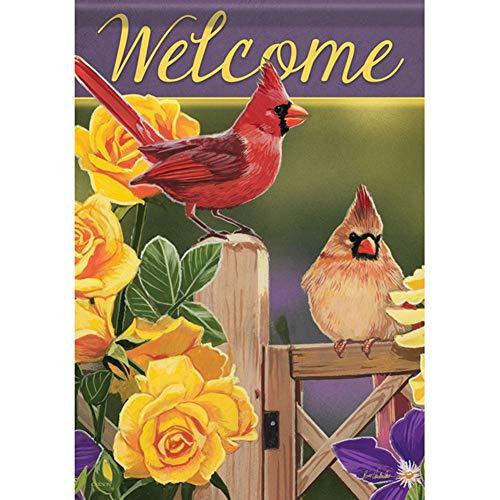 Yellow Rose Cardinals House Flag - 28