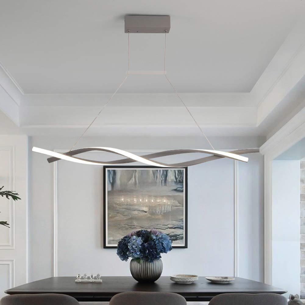 FCX-LIGHT Pendelleuchte Esstisch H/ängelampe LED Dimmbar Stufenlos mit Fernbedienung H/öhenverstellbar Pendellampe Esszimmer Modern H/ängeleuchte,Schwarz,80CM