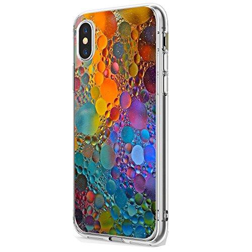 iPhone X Case TPU Silicone Cute Anti-Scratch Slim Ultra Protective Clear Bumper...