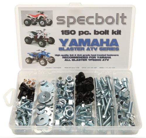 Specbolt Fasteners 150pc Yamaha Bolt Kit: Blaster YFS200 model series ATV Kit for Maintenance & Restoration OEM Spec Fasteners Quad