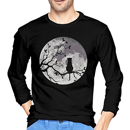 Cat Under The Moon Gentleman Long Sleeve Tee Juniors Retro 90s (Moon Unit Zappa Valley Girl compare prices)