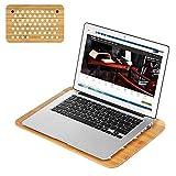 Lap Desk, SAMDI Laptop Tray Stand Cooling Pad Bamboo Slate Board | Lightweight & Compact