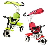 Costway Kids Ride On Trike Child 4 In 1 Tricycle 3 Wheel Bike Parent Handle Baby Infant (Red)