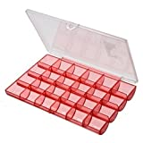 Plastic Beads Jewellery Craft Small Storage Box Nail Arts Case with 24 Compartments Cells