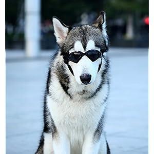 Kpmall Dog V-type Sunglasses UV Protection Fashion Eyewear Goggles Large, Black