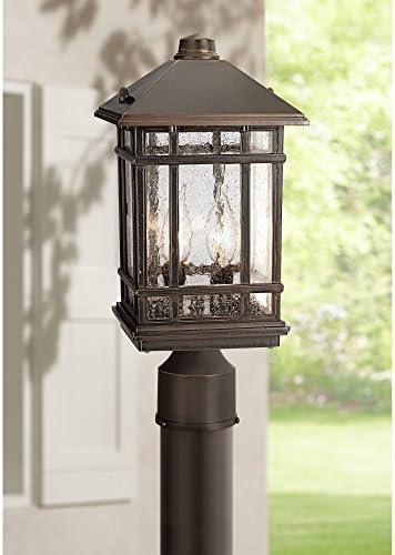 J du J Sierra Craftsman 14 High Outdoor Post Mount Light