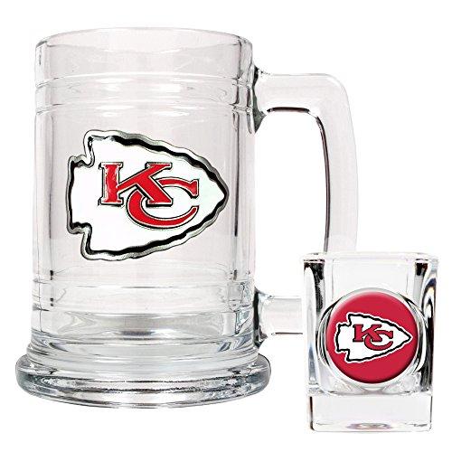 NFL Kansas City Chiefs Boilermaker Set (Primary Logo)