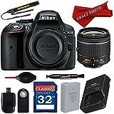Nikon D5300 DX-format Digital SLR w/AF-P DX NIKKOR 18-55mm f/3.5-5.6G VR Lens, 32GB Memory Card with Professional Accessory Bundle …