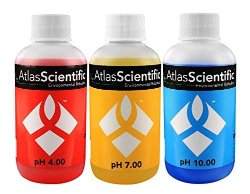 - Atlas Scientific pH 4.00, 7.00, 10.00 Calibration Solution 125ml - 4oz (Pack of 3)
