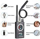 UNKNOK RF Signal Scanner Radio Anti-spy Hidden Camera Detector GSM Audio Wireless Bug Signal Alarm Sweeper Finder GPS Tracker US Plug