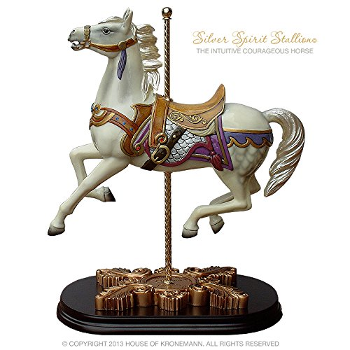 The House of Kronemann Limited Edition Carousel Horse, Silver Spirit Stallion - All Styles Available -