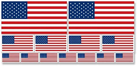 Sheet of All 50 US State Flags Stickers Scrapbooking Small Set Scrapbook Laptop Cell