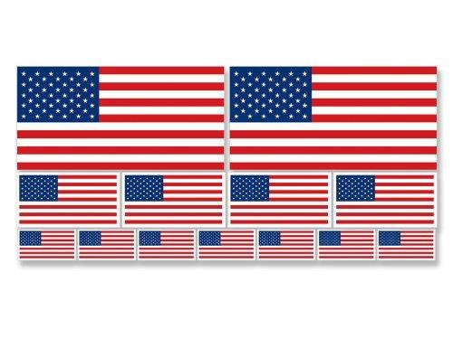[해외]여러 크기 미국 깃발 스티커 (scrapbooking 작은 데칼 미국)/Multiple Sizes USA Flags Sticker (scrapbooking small decals american)