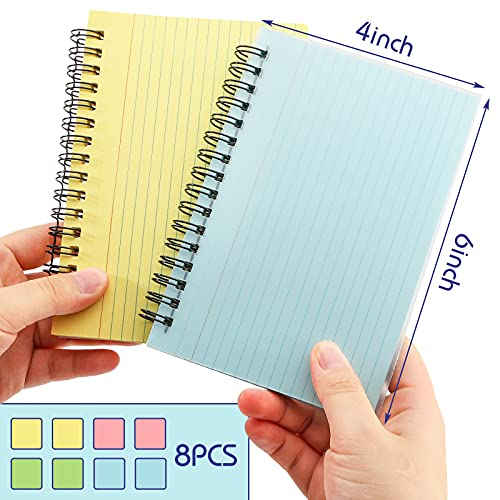 Koogel 400 Pieces Multicolor Index Cards, 4x6 Inches Ruled Index Cards Sprial Note Taking Paper in Multiple Colors for School, Learning, Memory, Recipe, Memo Scratch Pad, DIY Greeting Card