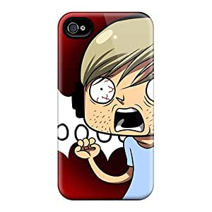 Best Cell-phone Hard Cover For Iphone 4/4s With Unique Design Fashion Pewdiepie Series MansourMurray