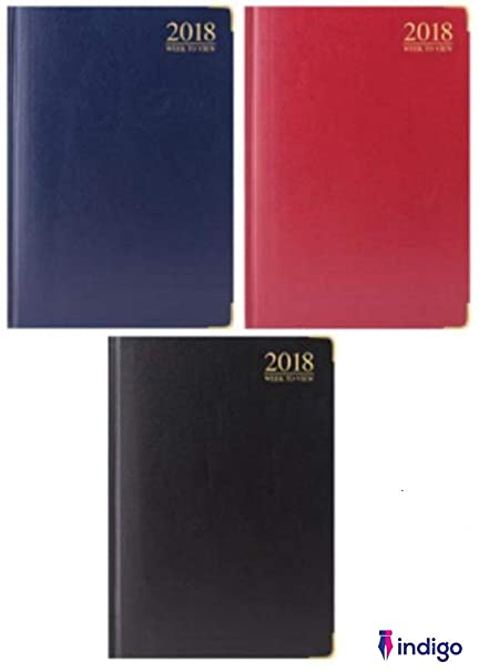 Day2day 2018 Week to View Pocket Executive Diary with metal corner Random