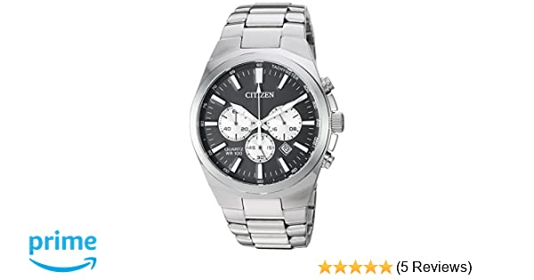 Amazon.com: Citizen Mens Quartz Stainless Steel Casual Watch, Color:Silver-Toned (Model: AN8170-59E): Watches