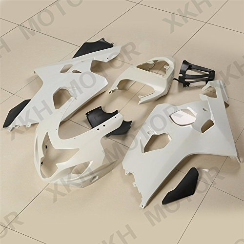 XKH Group Unpainted ABS Plastic Injection Fairings Bodywork for 04-05 Suzuki GSXR 600 750