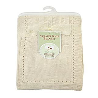 """Our sweater knit blanket material is made with 100% organic cotton. Measures 30"""""""" X 40"""""""". It is a perfect for today's on the go mom and can be used on a stroller. Machine wash cold with like colors, use mild detergent, gentle cycle. Do not bleach. Tu..."""