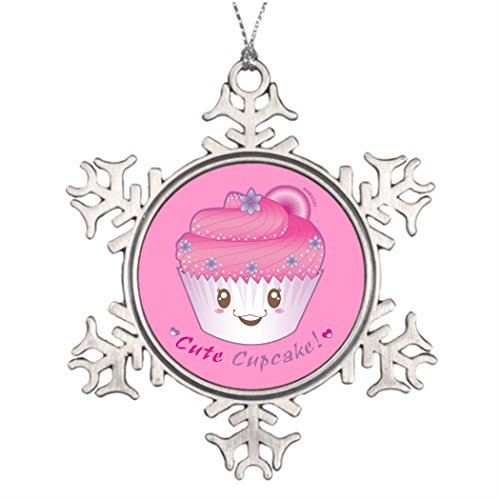 Tree Branch Decoration Cute Cupcake! Personalized Family Christmas Snowflake Ornaments Cupcake