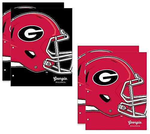 University of Georgia Bulldogs 2-Pocket School Folders, 4 Pack, 9.5