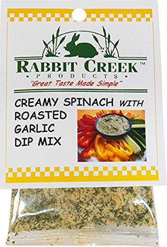 Rabbit Creek Products Creamy Spinach with Roasted Garlic Vegetable Dip Mix, 1 Ounce (Pack of (Creamy Roasted Garlic)