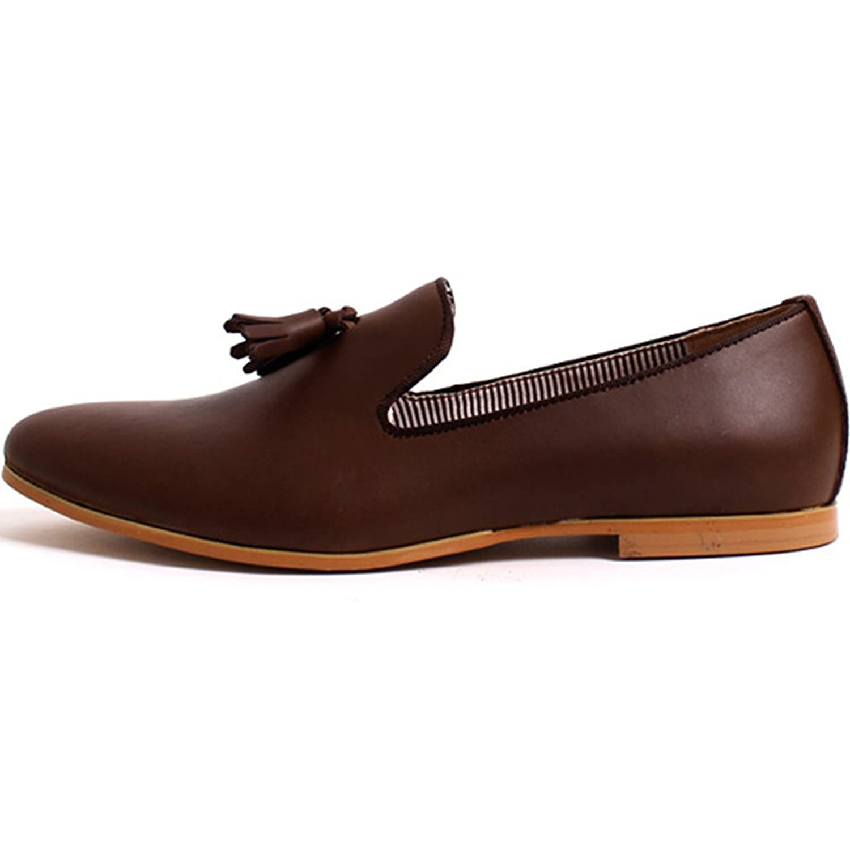 Amazon.com | New Premium Stylish Tassel Mens Leather Slip On ...