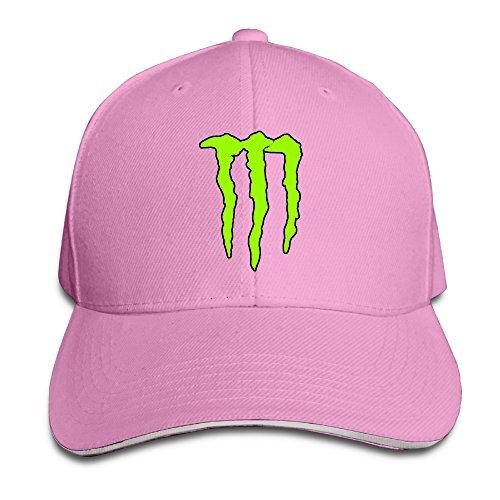NUBIA Monster Scratch Outdoor Hat Flex Fit Cap Pink