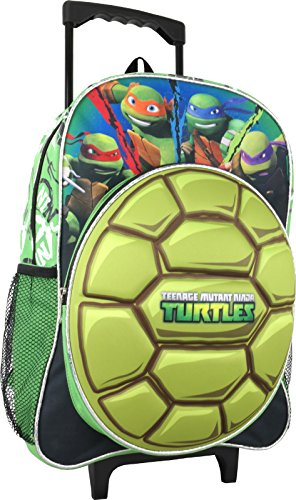 "Nickelodeon Teenage Mutant Ninja Turtles Large 16"" Rolling Backpack …"