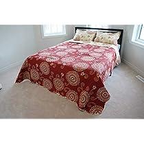 Stumix LuxuryReversible Quilt Set 3PC Set,Super Soft Bed Quilt Bedspread BedCover