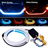 Trunk Lights - Tail Light, JAYEJA 5 Function Car Trunk Brake Turn Light Lamp 5050 Led Running Signal Light Car Warning Light (New Version)