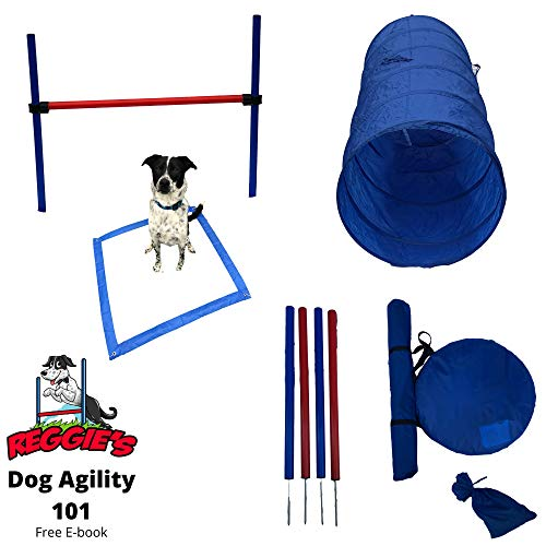 Reggie's Dog Agility Equipment Set Featuring Jump Bar, Weave Poles, Agility Tunnel, Rest Area, and Agility Training ebook (One Jump)